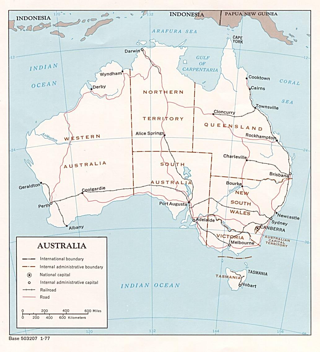 Australia map see map details from knietzsch com