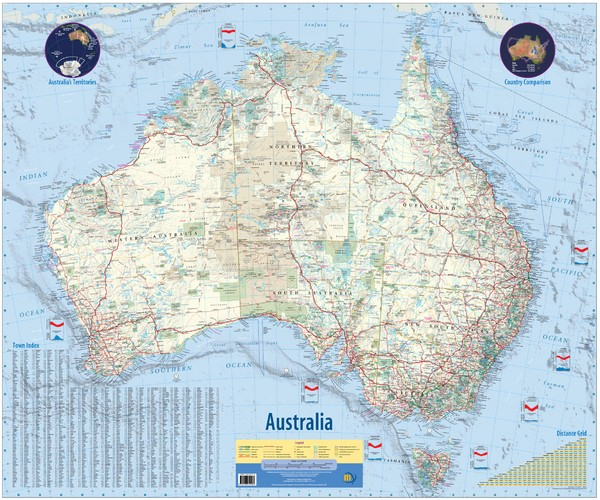 Australia Road Map Australia Mappery - Australia road map