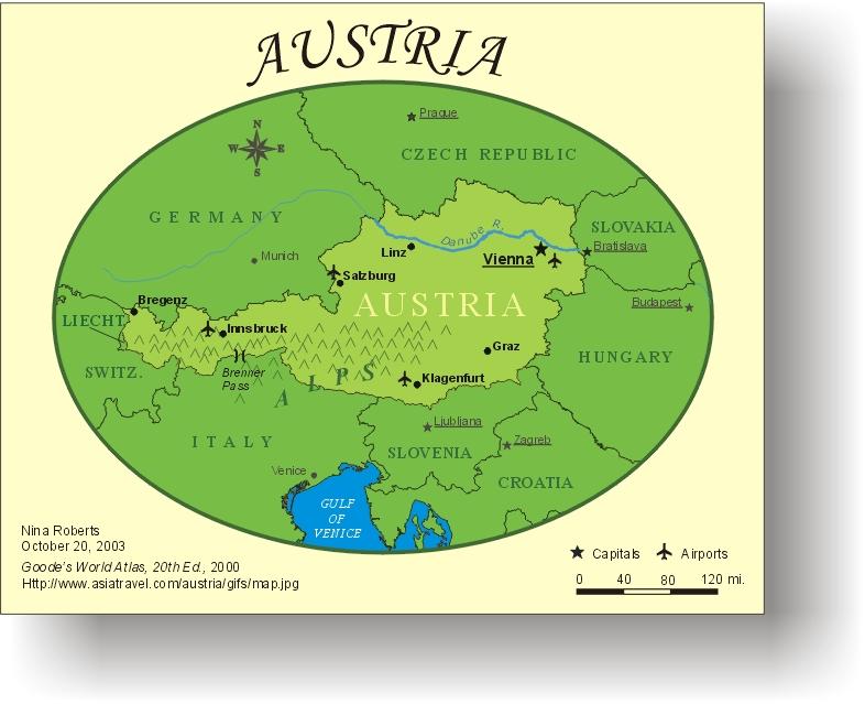 Austria Tourist Map - Austria • mappery