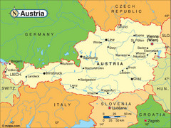 Austria Tourist Map