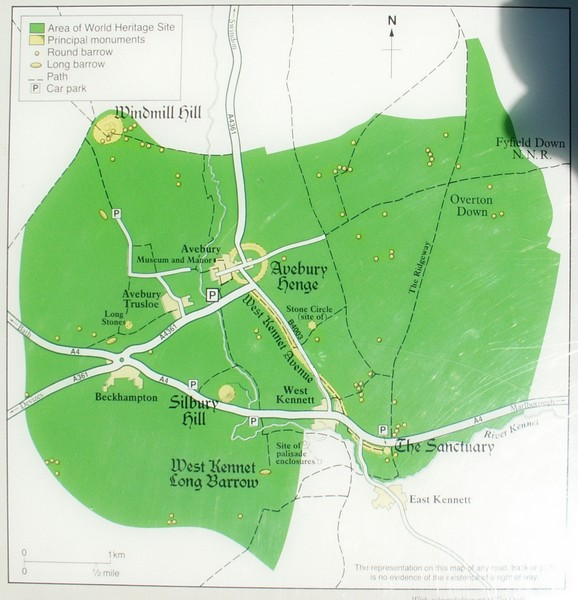 Avebury World Heritage Site Map