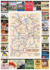 Avery County Restaurants Map