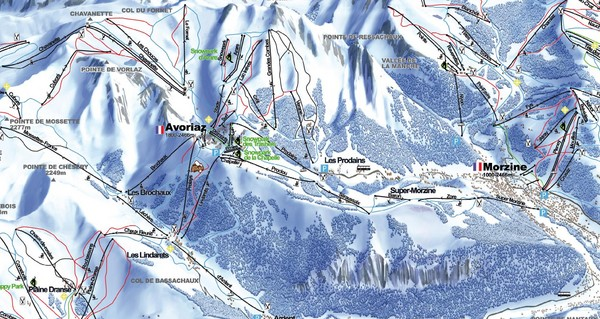 Avoriaz Ski Trail Map
