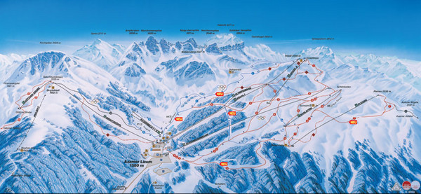 Axamer Lizum Ski Trail Map