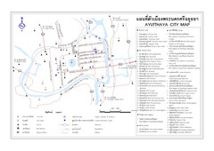 Ayutthaya (Ayudhya) City Tourist Map