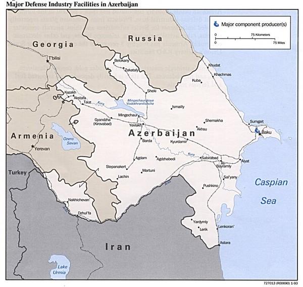Facility Site Map Example: Azerbaijan Defense Facilities Map