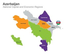 Azerbaijan Economic Regions Map