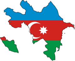 Azerbaijan Flag Map