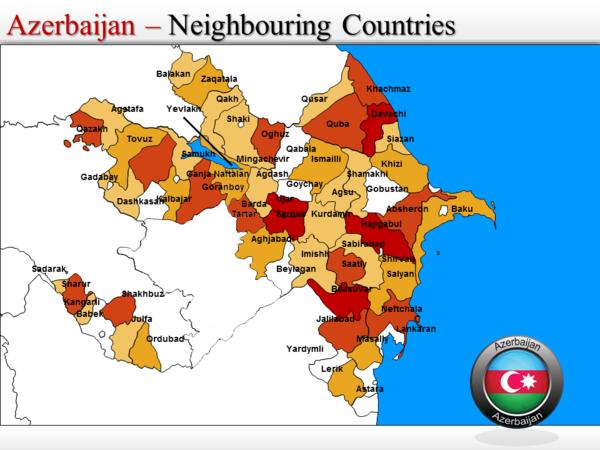 Azerbaijan Map Azerbaijan Mappery - Azerbaijan map