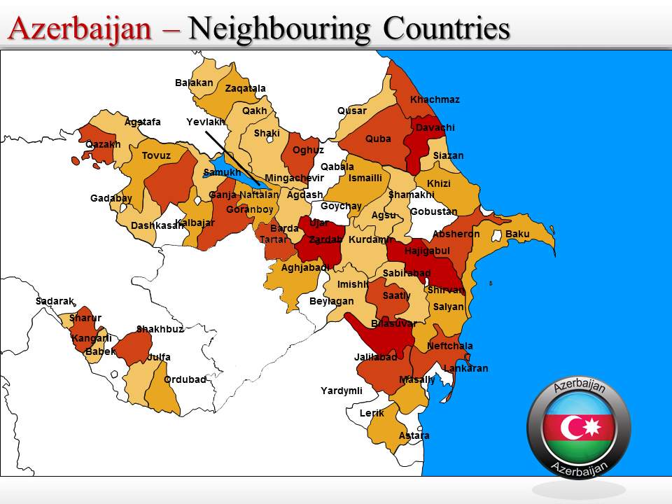 Azerbaijan Map Azerbaijan Mappery - Azerbaijan maps with countries