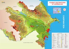 Azerbaijan Tourist Map