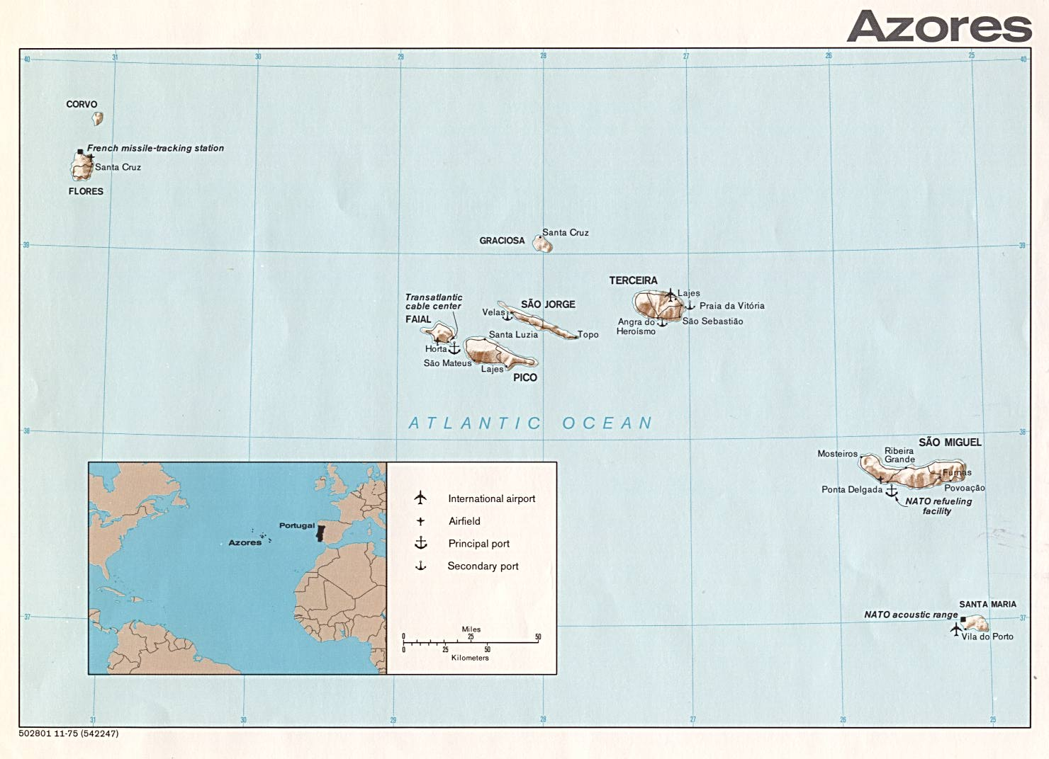 Azores Islands Map Azores �