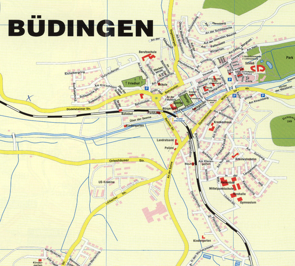 Budingen Germany Map.Budingen Map Buumldingen Germany Mappery