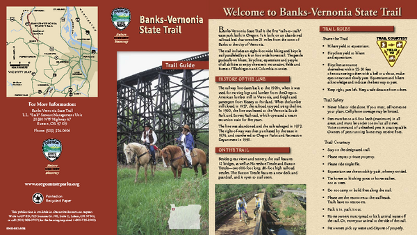 BANKS-VERNONIA STATE TRAIL Map