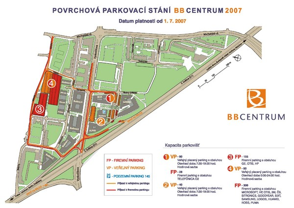 BB Centrum Map (Czech)