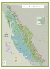 BC and Alaska Coastal Forest and Mountains Map