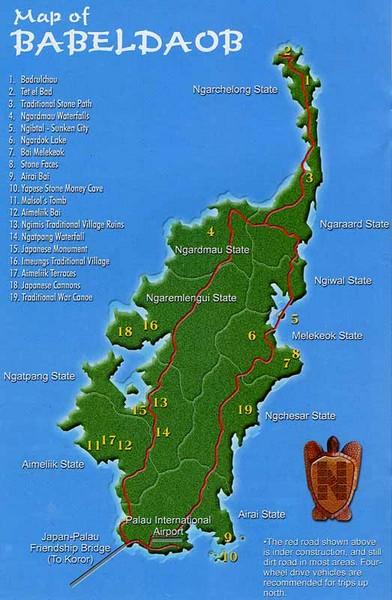 Babeldoab Map Palau Mappery - Palau map
