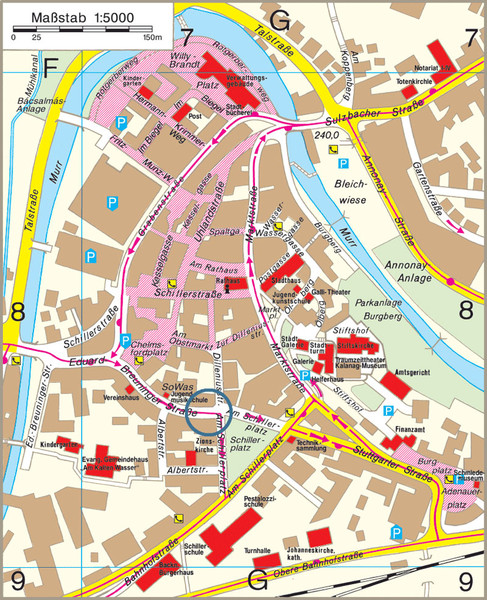 Backnang City Map