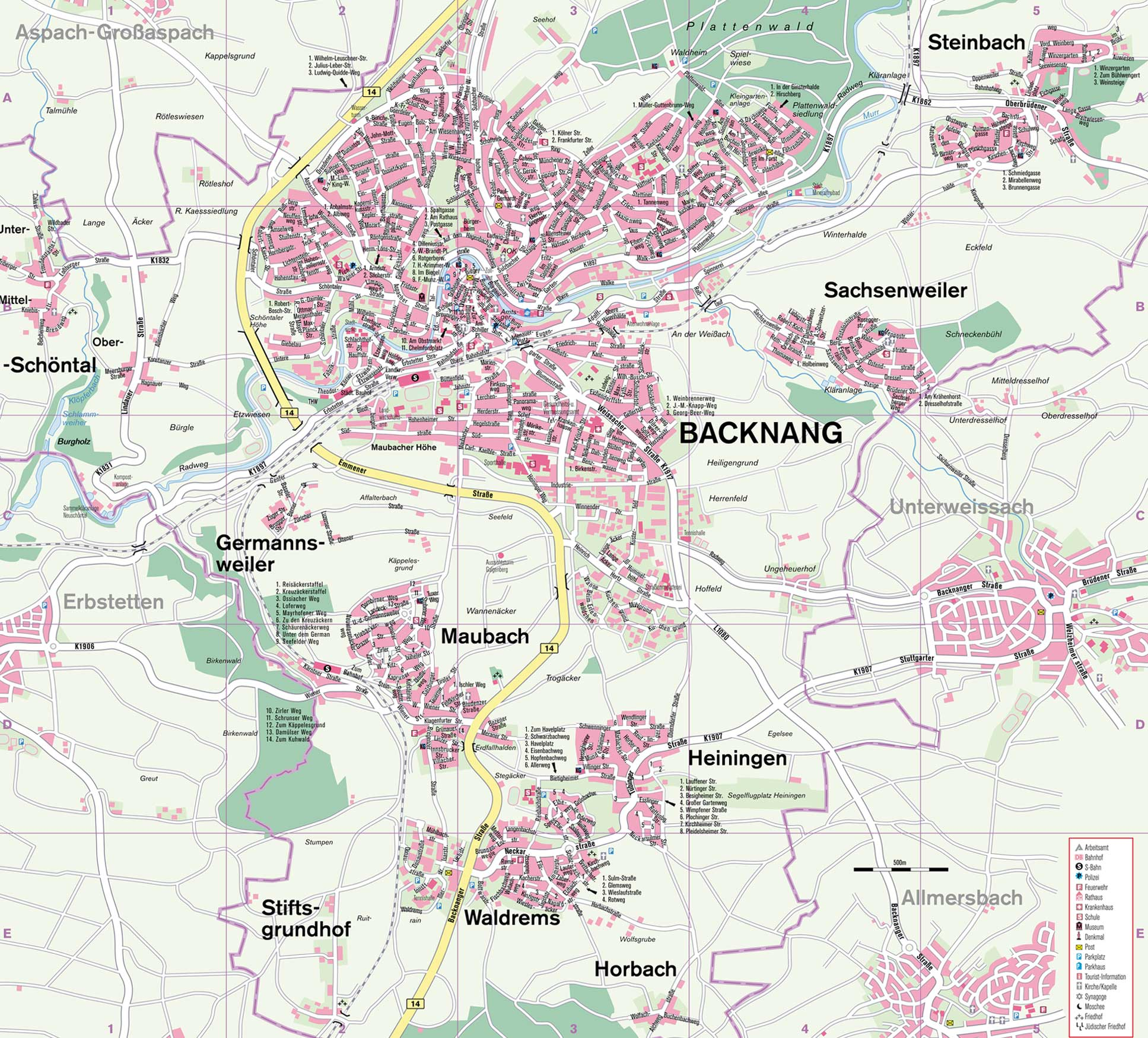 Backnang Germany  city photo : Backnang Region Map Backnang Germany • mappery