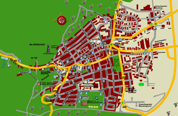 Bad Bergzabern Tourist Map