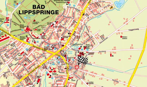 Bad Lippspringe Map