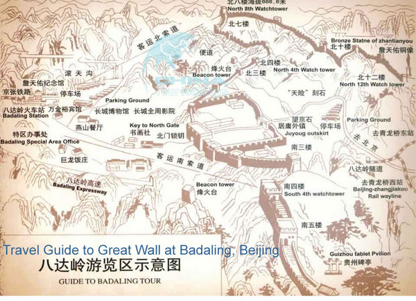 Badaling Great Wall Map