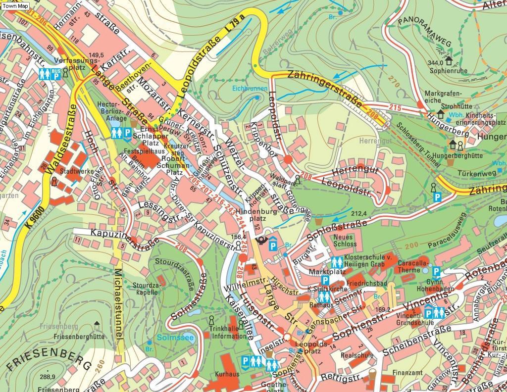 Plan De Ville Baden Baden