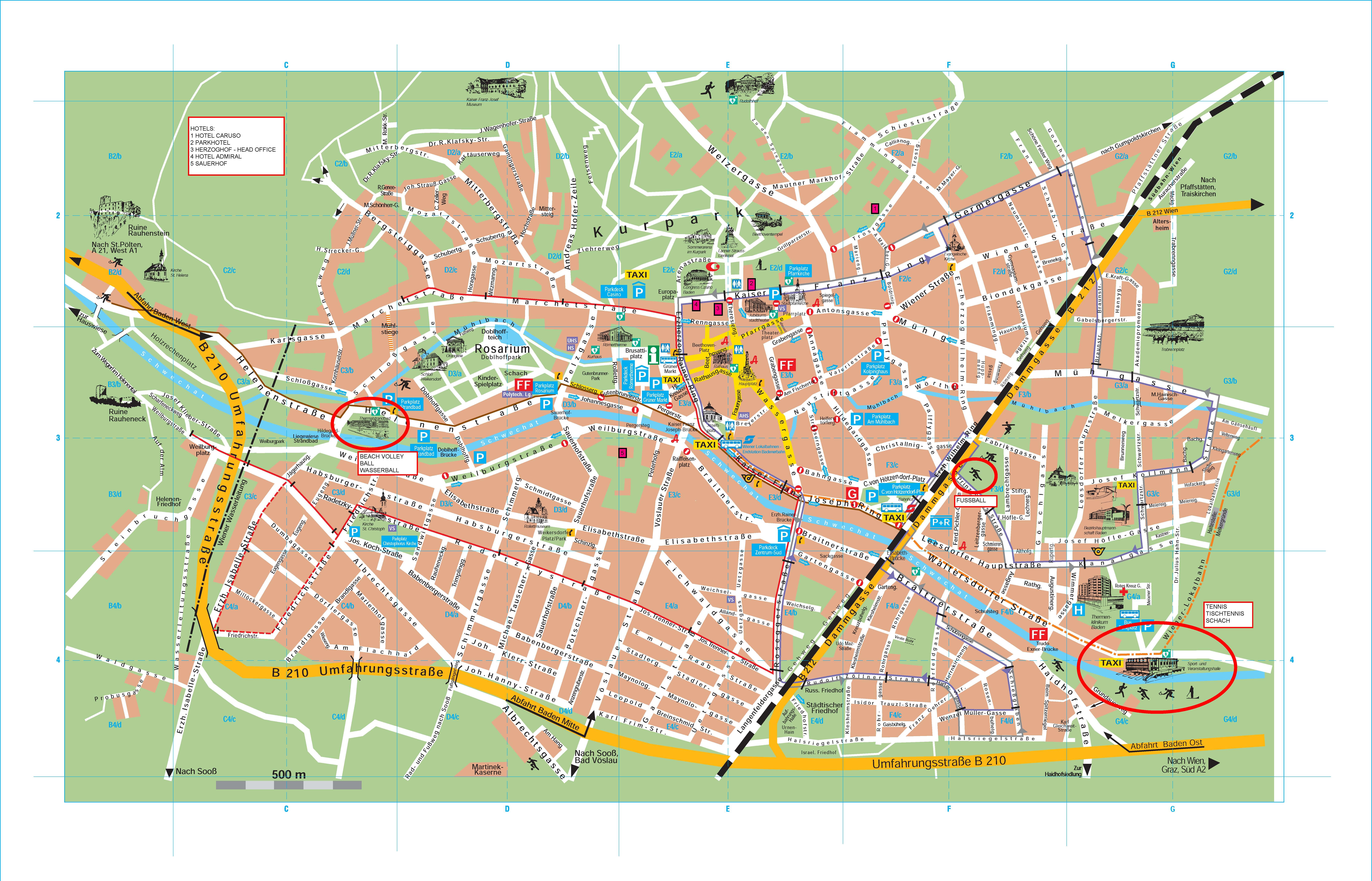 Baden City Map Baden Austria mappery
