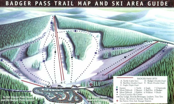 Badger Pass Ski Trail Map