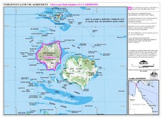Badu Island and Moa Island Map