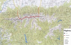 Bagaras Mountains Hiking Trail Map