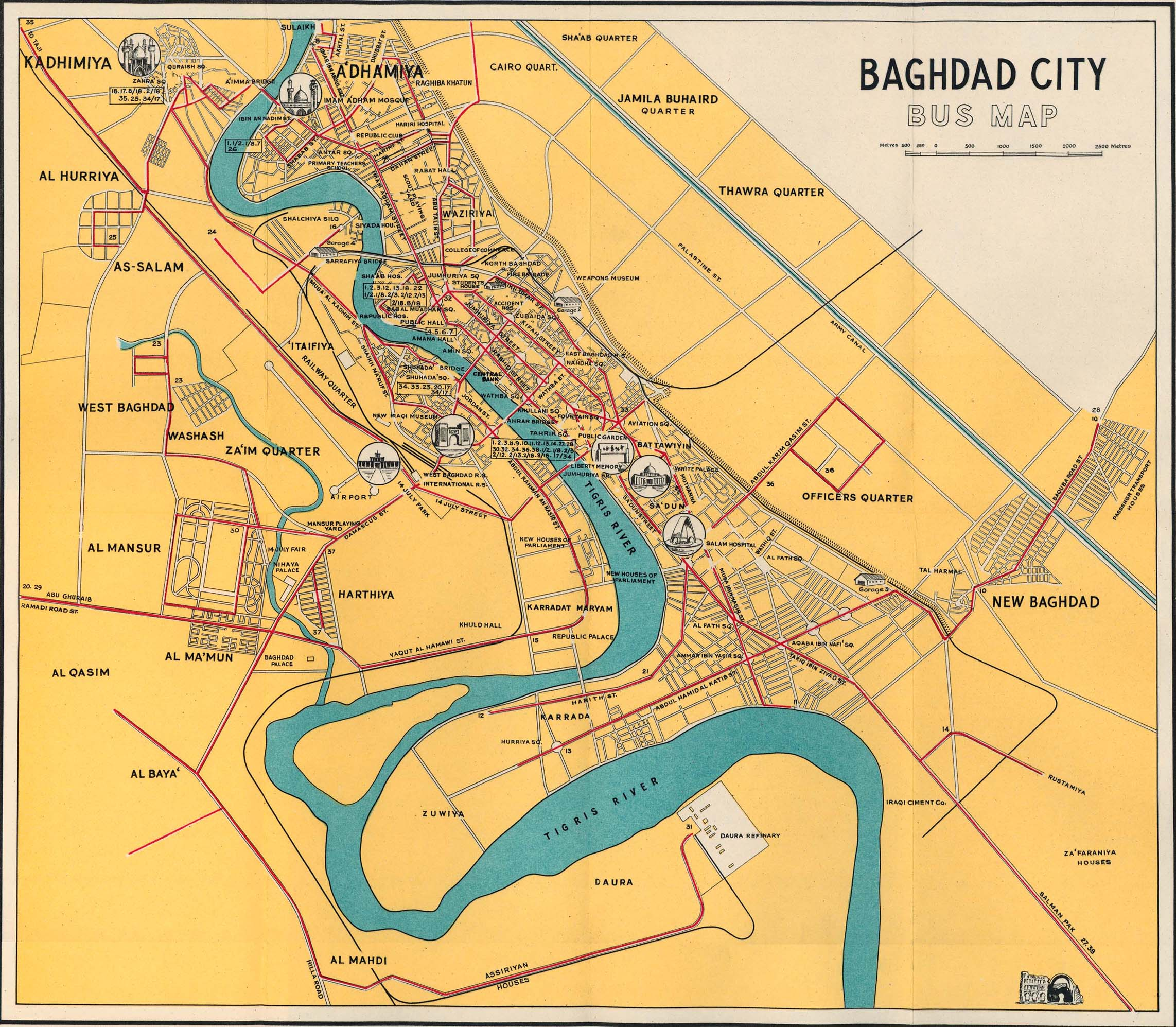 Baghdad Bus 1961 Map mappery