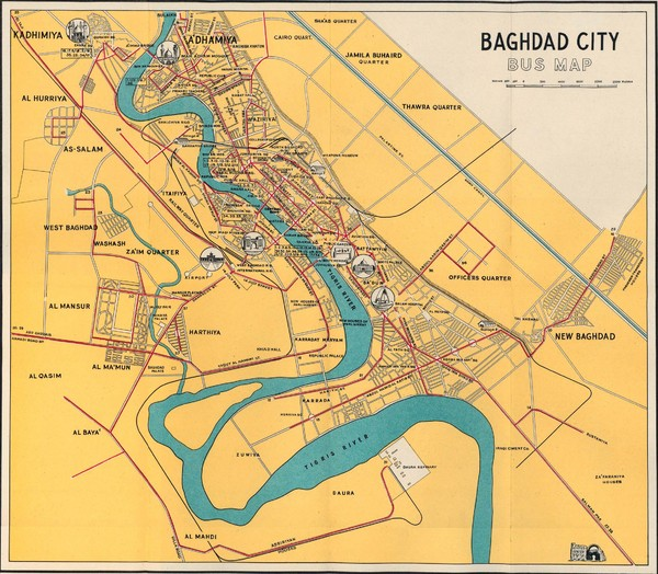 Baghdad Bus 1961 Map • mappery