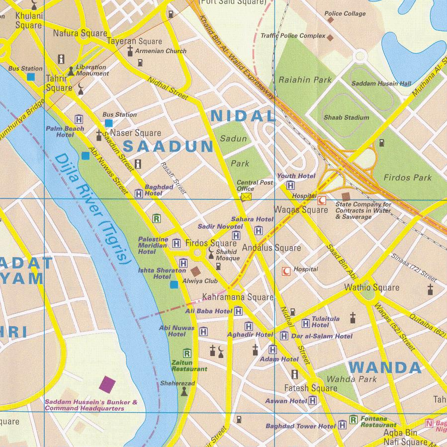 Baghdad City Center Map - Baghdad Iraq • mappery