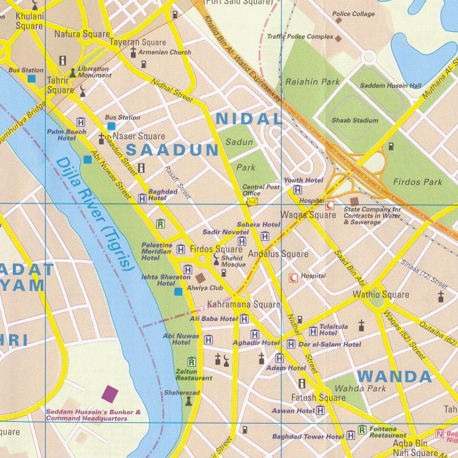 Baghdad City Center Map Baghdad Iraq mappery