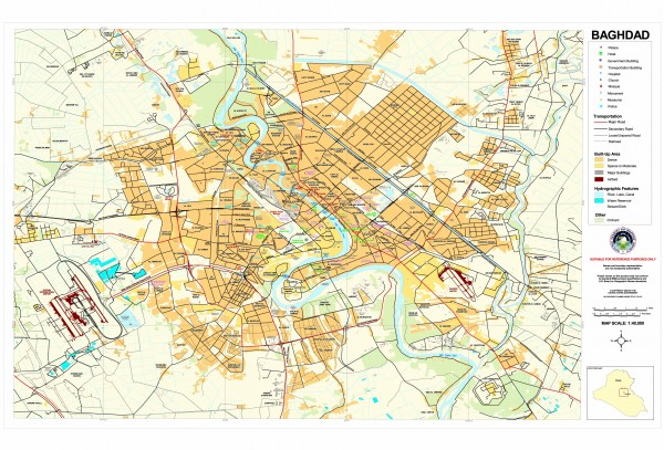 Baghdad Iraq Downtown map