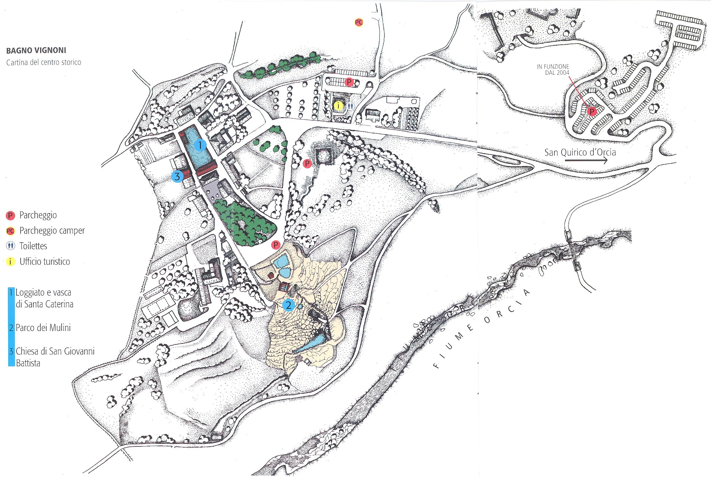 Bagno Vignoni Map - bagno vignoni it • mappery