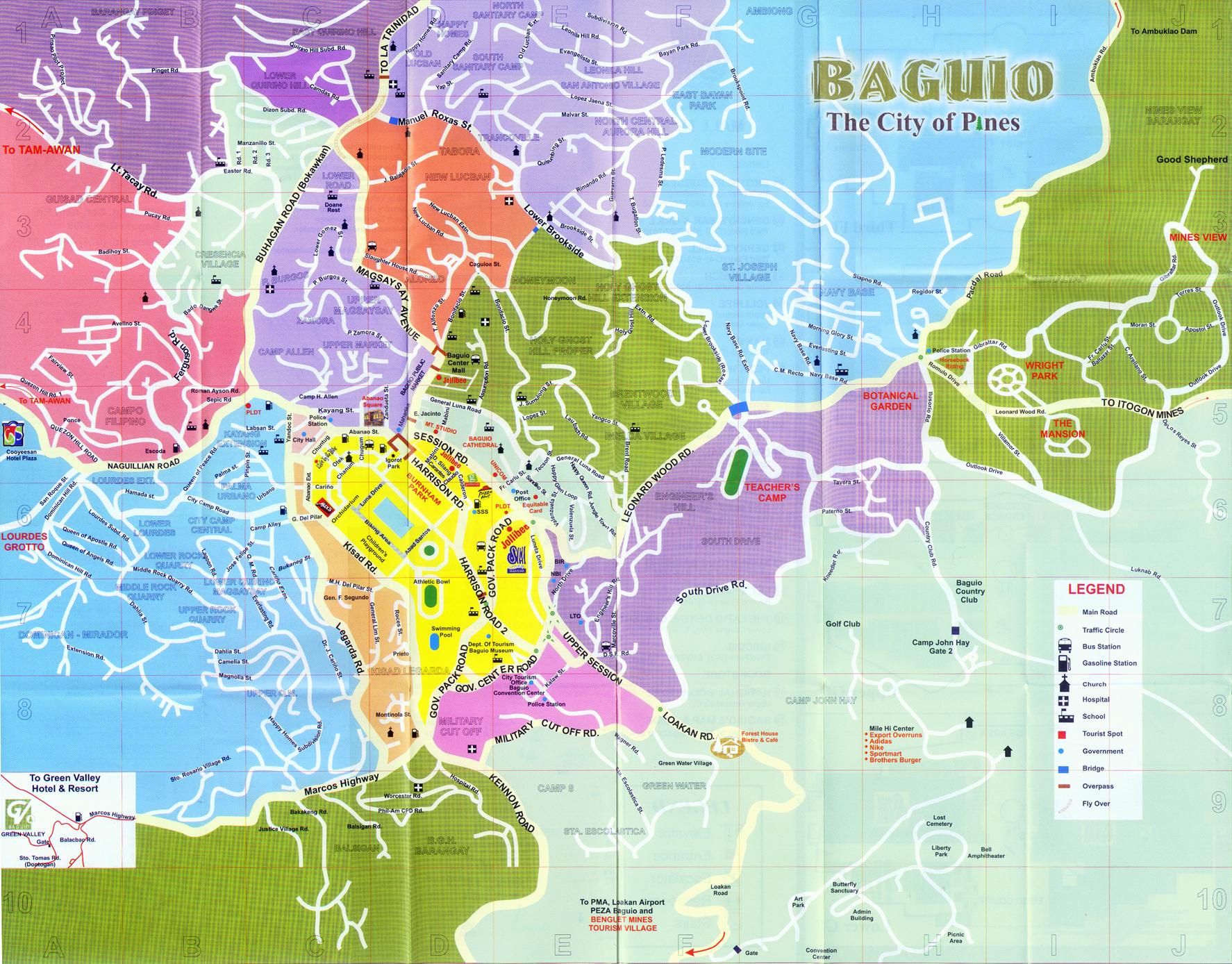 Baguio Map Baguio Phillipines Mappery - Baguio map