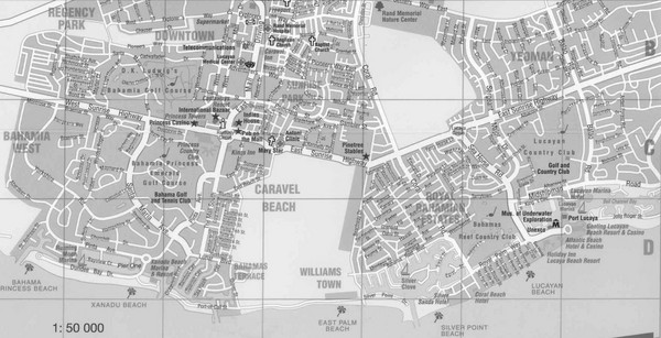 Bahamas Guide Map Bahamas FreeportLucaya mappery – Nassau Tourist Map