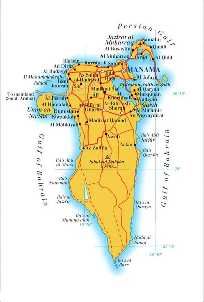 Bahrain map mappery fullsize bahrain map gumiabroncs Images