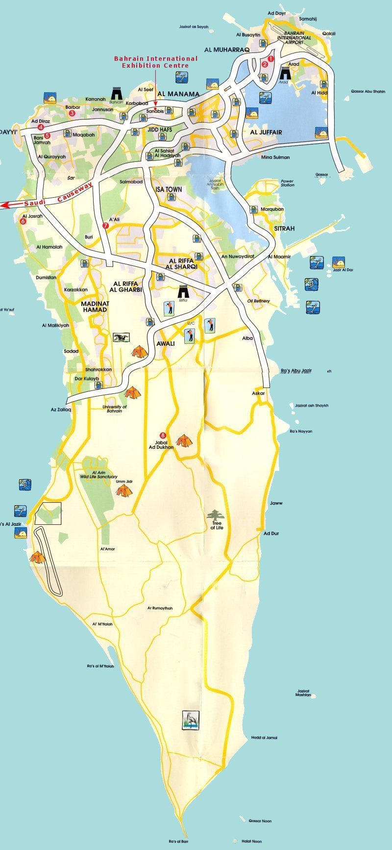 Bahrain tourist map bahrain mappery gumiabroncs Choice Image