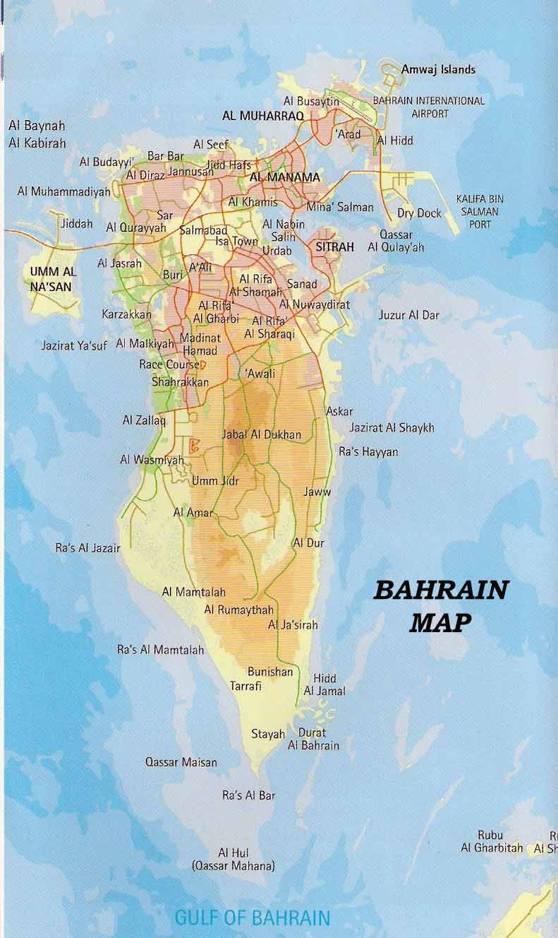 Bahrain topography Map mappery