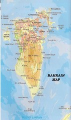 Bahrain topography Map
