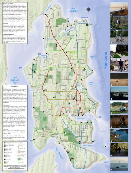 Bainbridge Island Hiking And Biking Map Bainbridge