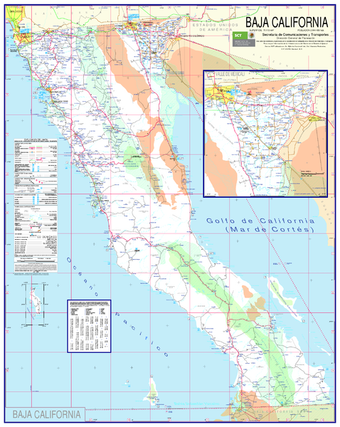 Baja California Map - North - Playa la Costilla Mexico • mappery
