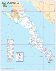 Baja California Map - South
