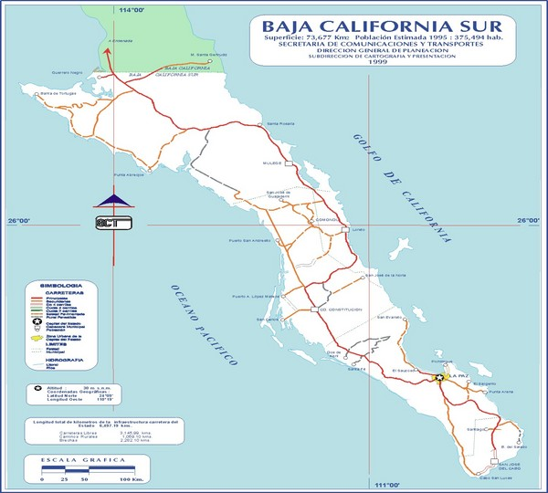 Baja California Map