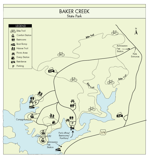 Baker Creek State Park Map