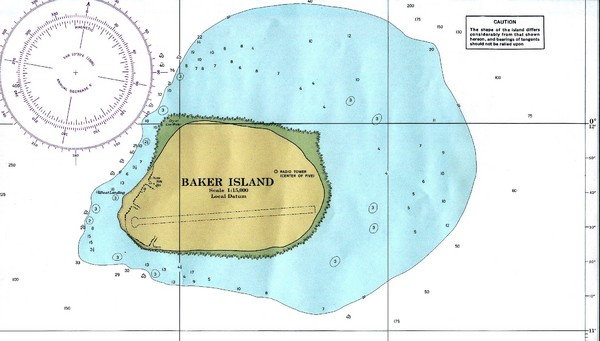 Baker Island Nautical Map