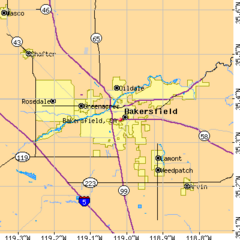 Bakersfield City Limits Map